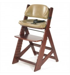 Keekaroo Height Right High Chair Mahogany+ Comfort Cushion Set