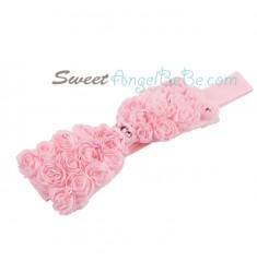 Rose Garden Headband - Pink (Elastic)
