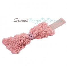Rose Garden Headband - Dusty Rose (Elastic)