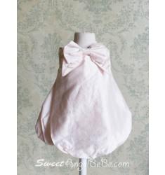 Delightful Pink Silk Bubble Dress