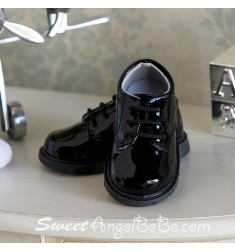 Black Patent Lace up
