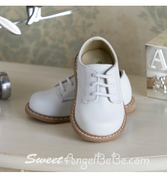 Designers Touch Saddle Oxford White Leather Lace