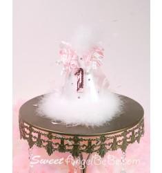 White Pink Glitter - 1year