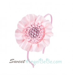 Crystal Bloom Headband - Pink