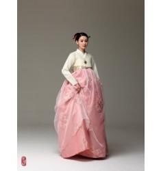 분홍빛수 한복