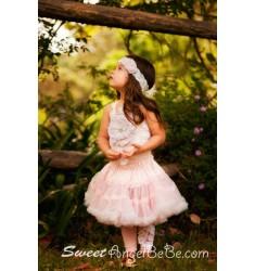 Princess Flower Footless Socks