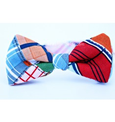 Seaside Plaid Bow Tie