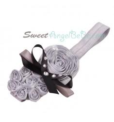 La Belle Fleur Silver Headband