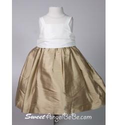 Silk Taffeta Dress - True Gold