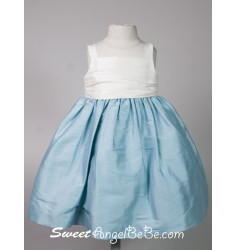 Silk Taffeta Dress - Vintage Blue